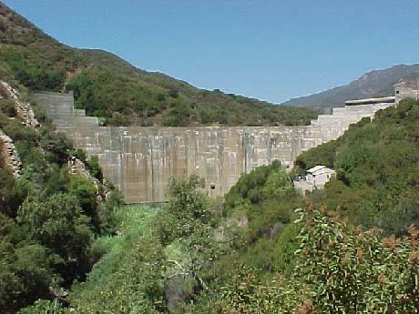 Matilija Dam in 2000